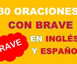 30 Oraciones En Inglés Con Brave | Frases Con Brave