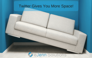 twitter gives you more space