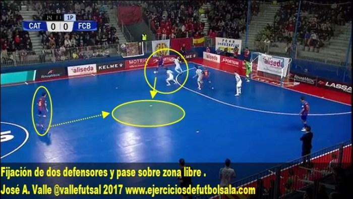 Diego fija a dos defensores y dobla a Joao
