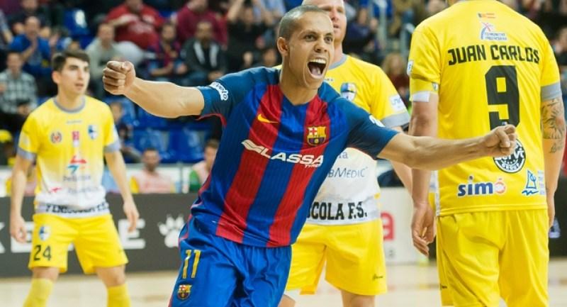 Ferrao, pivot del FC Barcelona Lassa. Foto LNFS