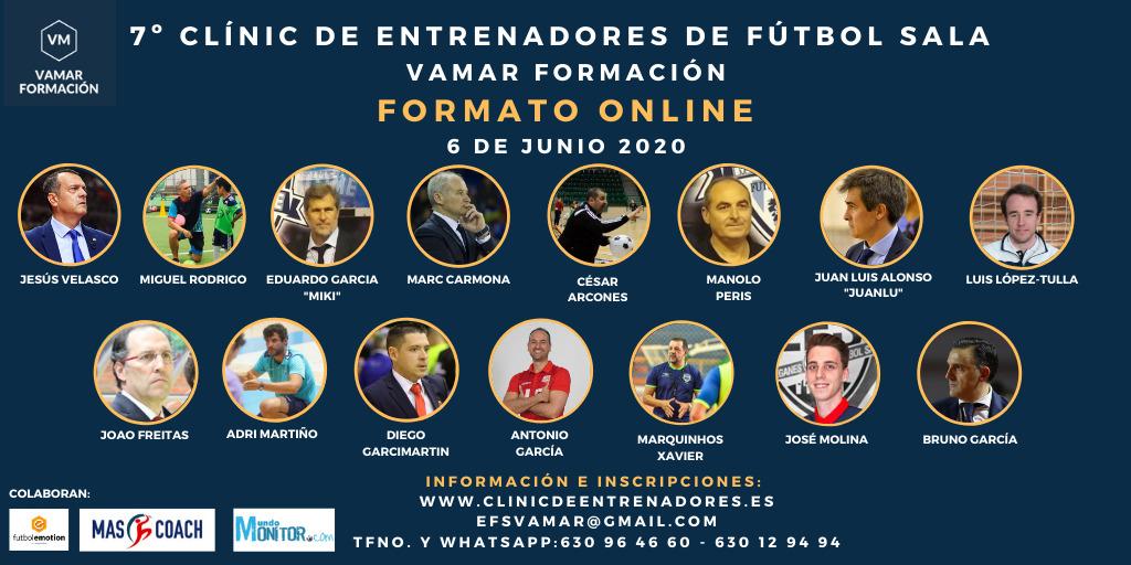 Dos Semanas solo para el 7º Clínic de Entrenadores de Fútbol Sala. Versión Online