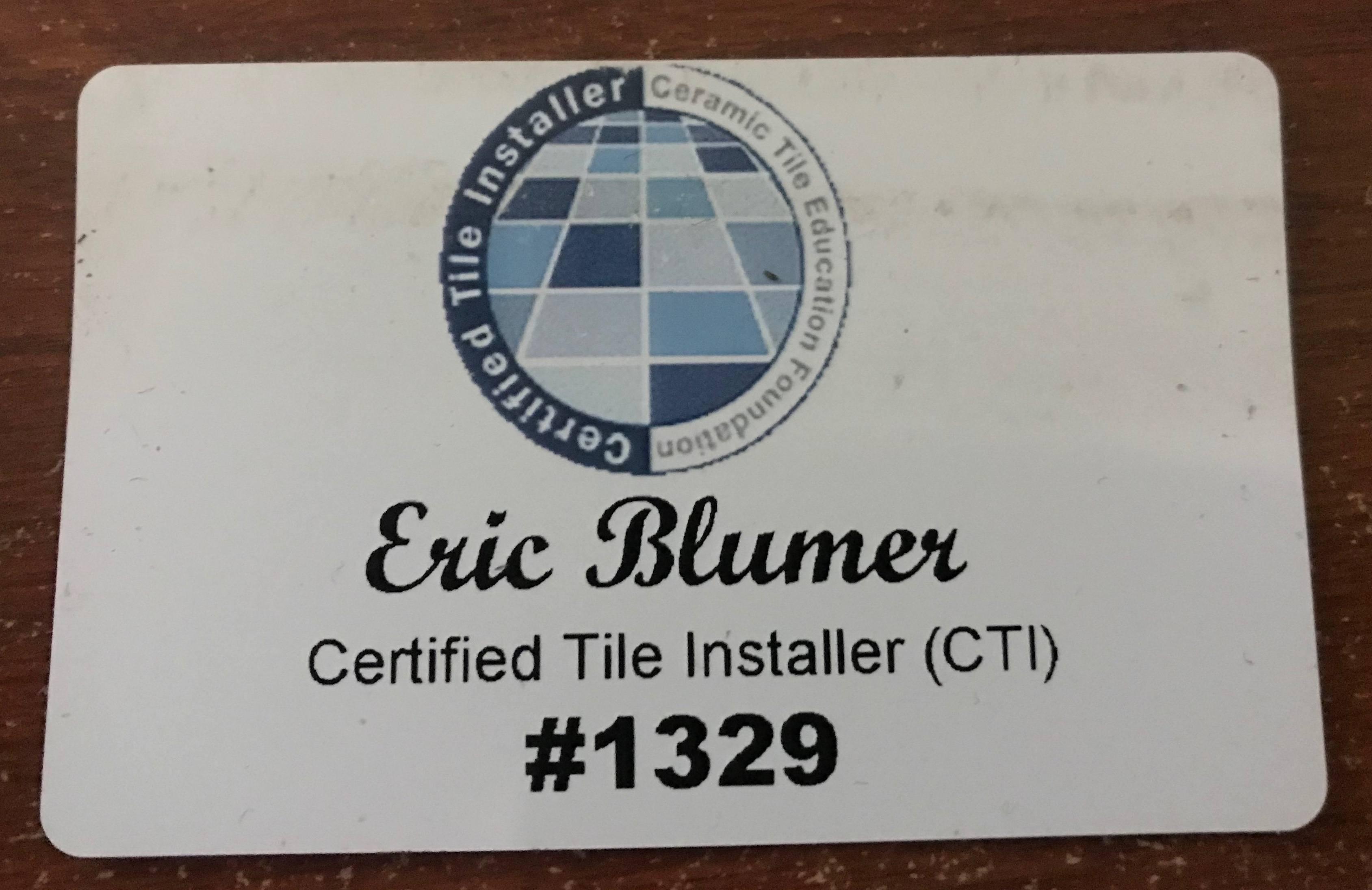 certified tile installer hiring one is