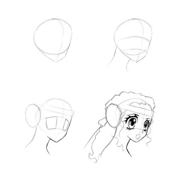 Как срисовать картинки аниме?