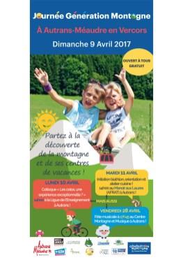 EJN02 - Autrans Méaudre - Journée génération Montagne - Flyer-recto