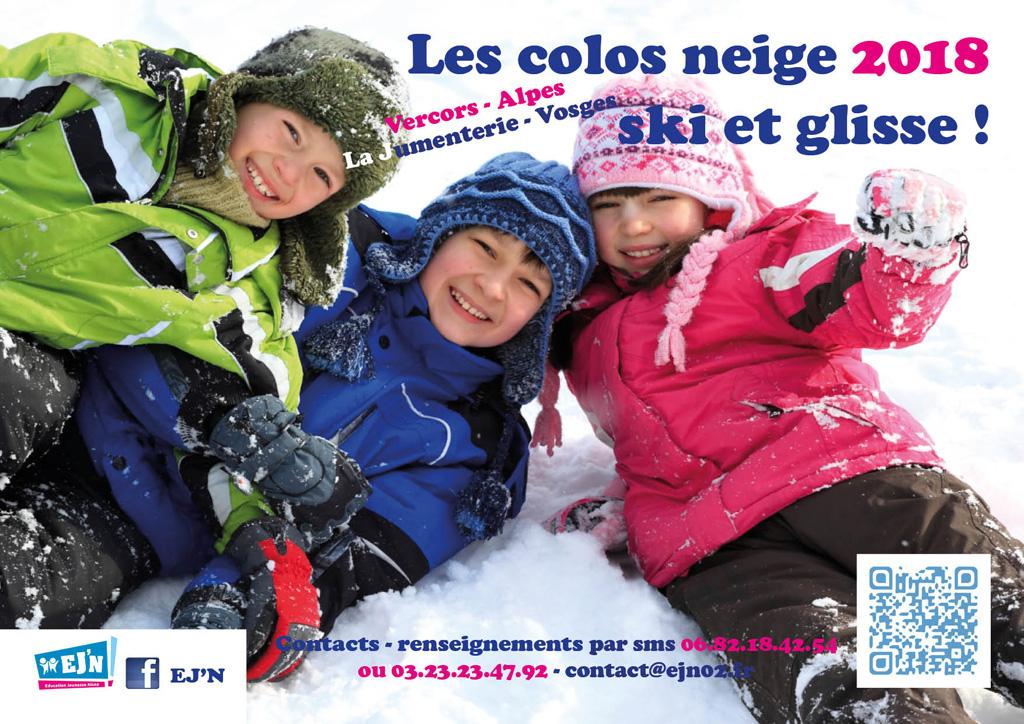 Les colos neige 2018 ski et glisse !