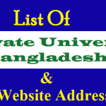Private University of Bangladesh | Website Address | ugc.gov.bd