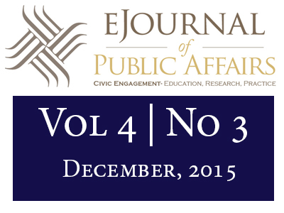 Image of Volume 4 Issue 3 of the eJournal of Public Affairs