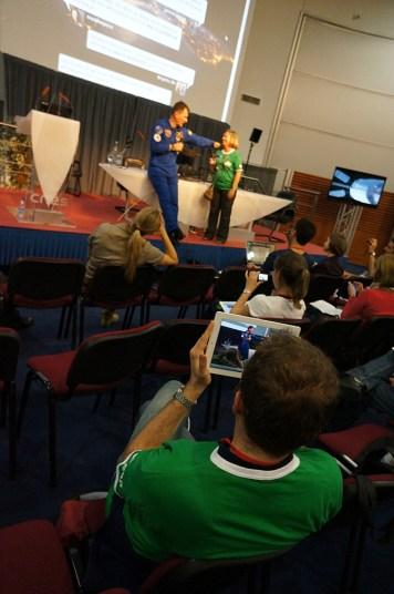 ATV tweetup - Erica with Paolo Nespoli