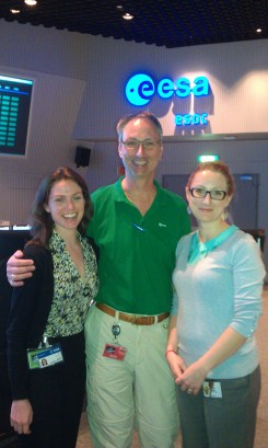 Kelsea, Daniel and Lisa at Sentinel-1A launch