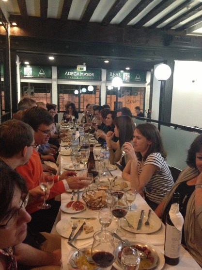 Team dinner in Lisbon, Portugal 2013