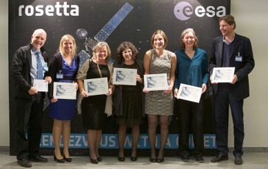 ESA Rosetta team awards at ESAC, Madrid, November 2015