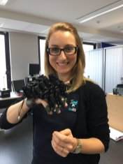 Content manager Lisa Guilpain working with EU Horizon 2020 project DexROV, bringing science, robotics, and innovation to the seabed.