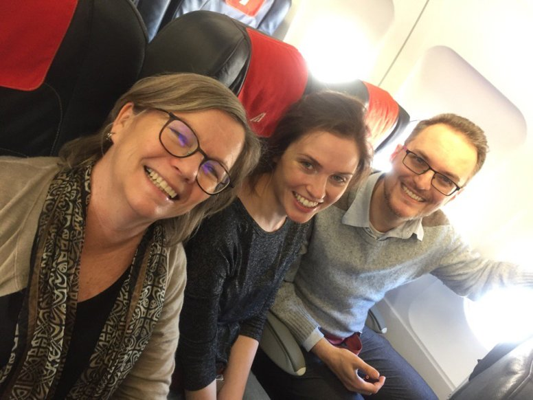 Some of the team flying ITA to GER.
