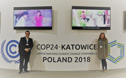 Nicole Shearer and Mario Morellon at COP, December 2018