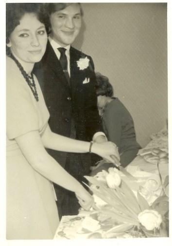 Nan and Grandad wedding 1961