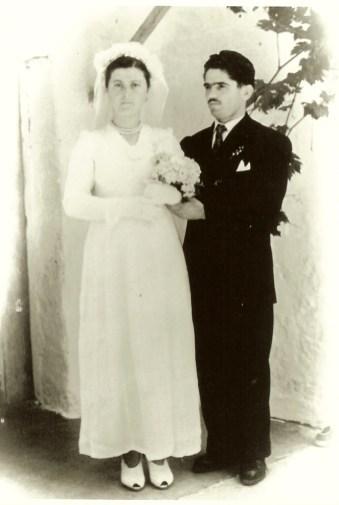 Yiayia and Papou wedding 1955