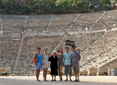 All together at Epidavros Theatre