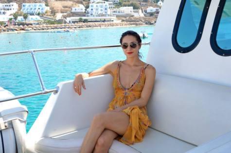 On a fun boat trip