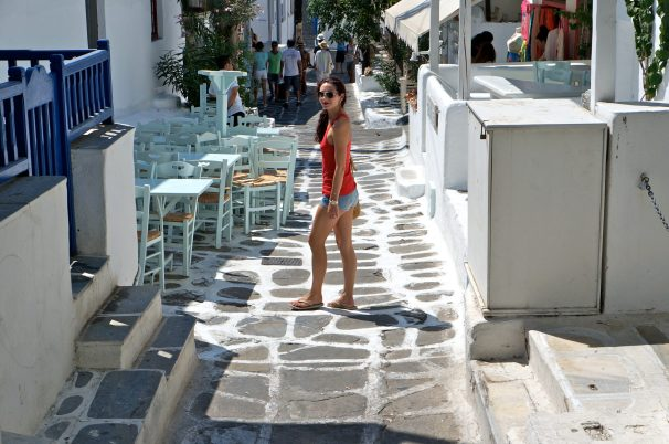 Walking the cobbled lanes