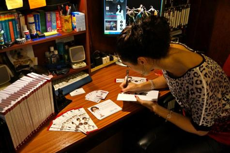 Signing my books