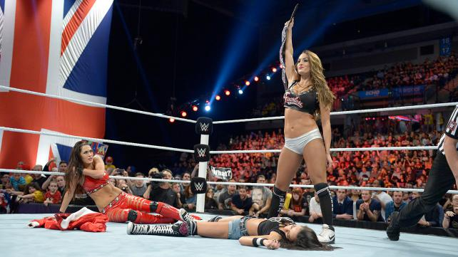 The Bella Twins fight it out