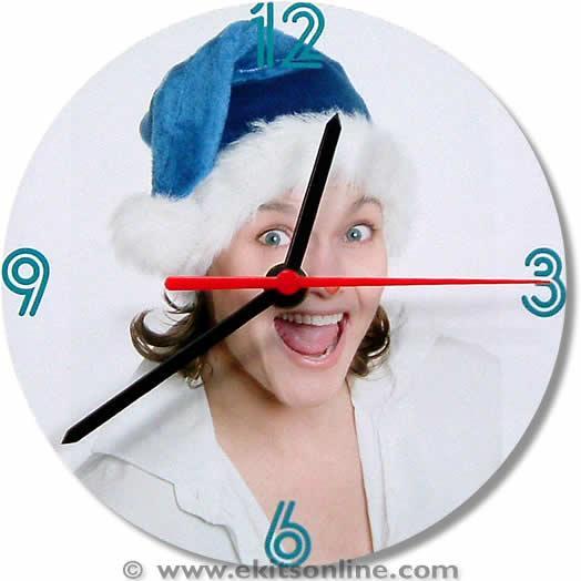 Female santa Clock
