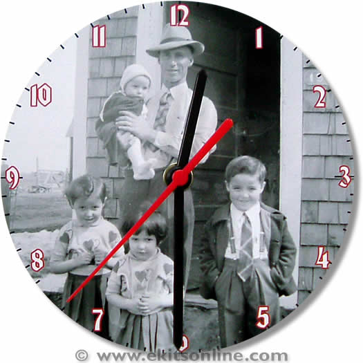 Old Photo Clock