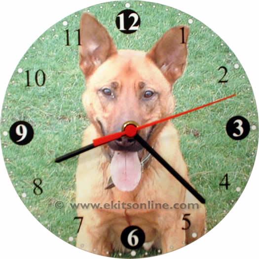 Rusty the dog Clock
