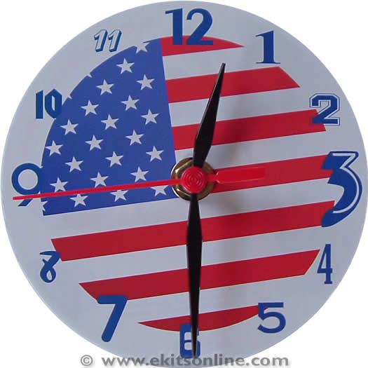 USA flag CD clock