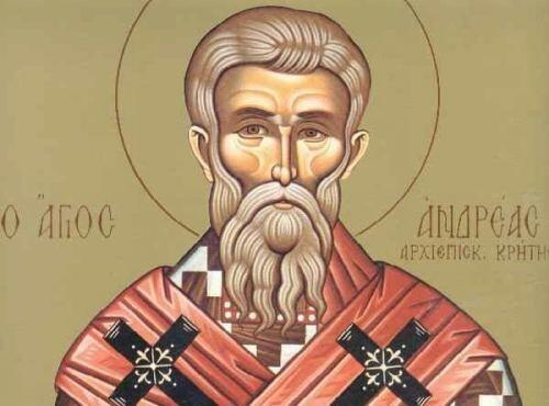 Αποτέλεσμα εικόνας για Του Αγίου Ανδρέου, Αρχιεπισκόπου Κρήτης του Ιεροσολυμίτου