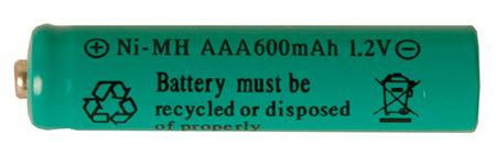 Batteri AAA 1,2V Ni-mh 600 mAh Uppladdningsbart