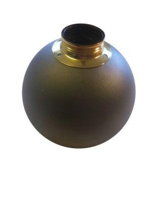 Bordslampa Klotet Antracitgrå med mässingsdetaljer