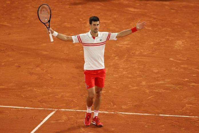 Novak Djokovic at Roland Garros 2021