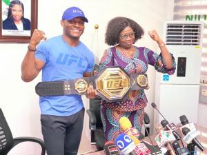 Abike Dabiri Lauds Kamaru Usman Initiative To Build Sports Academy In Nigeria