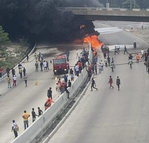 Lagosians Lament Delayed Repair Of Burnt Airport Bridge