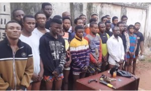 Delta State Police Arrest Over 100 Suspected Cultists, Foil Initiation Ceremony