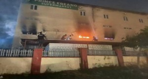 JUST IN: Fire Guts Popular Supermarket In Abuja