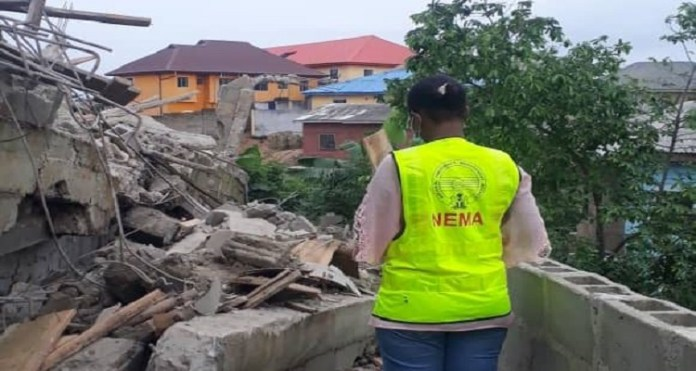 Landlord Killed As Two-Storey Building Collapses In Lagos