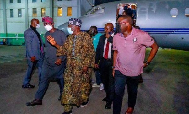 Tinubu Returns To Nigeria After 3 Months UK Medical Trip (Photos)
