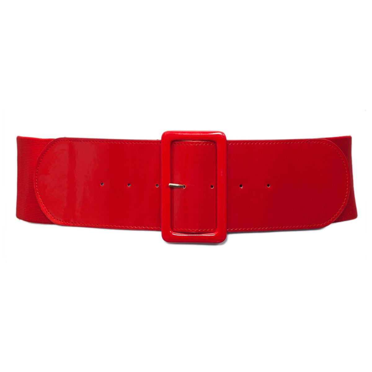 Plus Size Wide Patent Leather Fashion Belt Red Photo 1