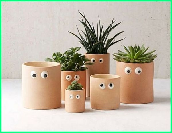 pot lucu kaktus, pot bunga lucu dan unik, pot tanaman lucu dan cantik, pot bunga imut lucu, pot pot lucu