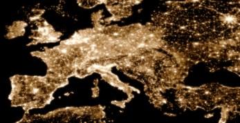 Svjetlosno onečišćenje Europe, 2009.