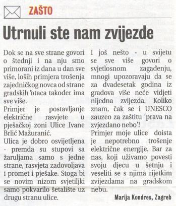 Komentar čitateljice Jutarnjeg lista.