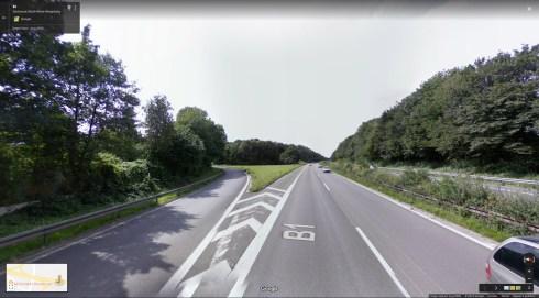 Odvojak s autoceste - nema rasvjetnih stupova