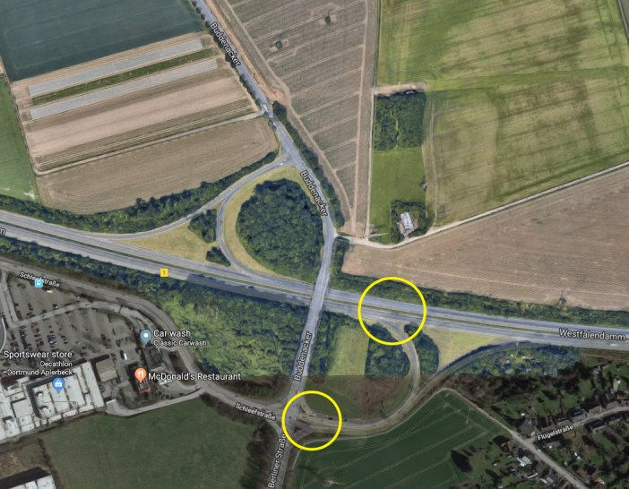 Označena mjesta na petlji gdje su snimljeni screenshotovi