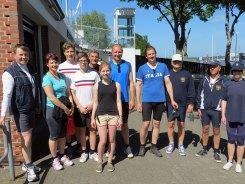 Die neuen 10 Freigeruderten des EKRC mit Christina Dunsing vom Trainerteam