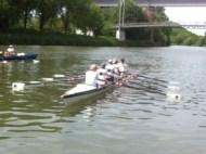 beide Vierer auf dem Neckar