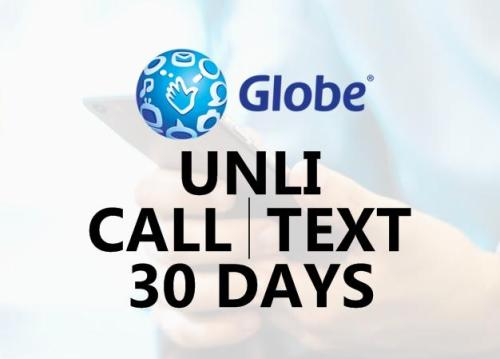 globe unli call and text for 1 month