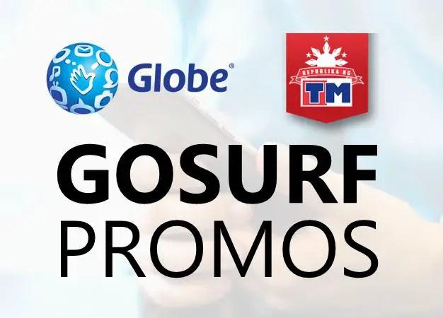 Globe gosurf internet data promos
