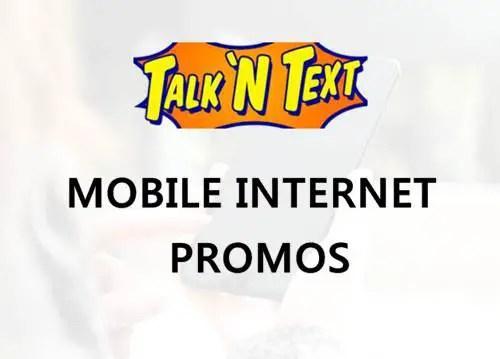 Talk 'N Text or TNT mobile internet promo list 2018